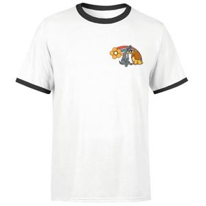 Disney Lady And The Tramp Rainbow Unisex Ringer T-Shirt - White / Black
