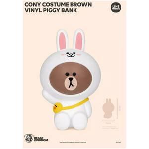 Beast Kingdom Line Friends Vinyl Piggy Bank - Brown (Cony Costume)