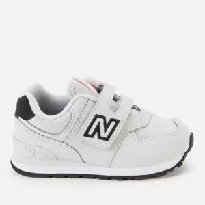 New Balance Infant Velcro 574 Strap Trainers - Grey