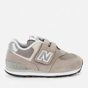 New Balance Infant Velcro 574 Strap Trainers - Dark Grey
