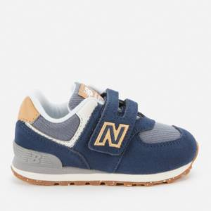 New Balance Infant Velcro 574 Strap Trainers - Navy