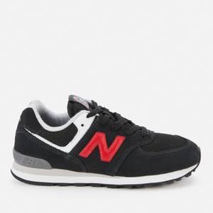 New Balance Kids' 574 Trainers - Black/Red