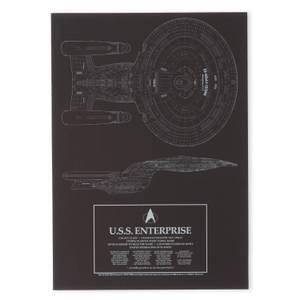 Star Trek Starfleet U.S.S. Enterprise Impression d'art Giclée