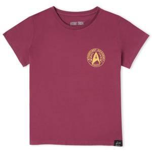 Camiseta Star Trek Starfleet Commander para mujer - Borgoña
