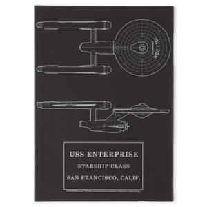 Lámina Star Trek Starfleet Original USS Enterprise Giclee