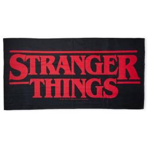 Stranger Things Logo Beach Towel