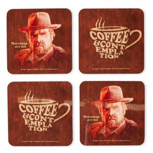 Stranger Things Coffee And Contemplation Coaster Set