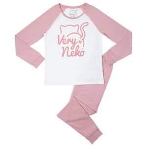Very Neko Pink Women's Pyjama Set - Pink White