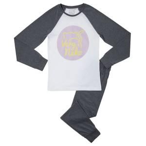 Very Neko Logo Women's Pyjama Set - Grey White