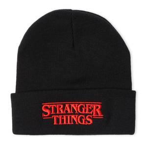 Stranger Things Logo Beanie -Black