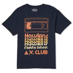 Stranger Things Hawkins AV Club Men's T-Shirt - Navy