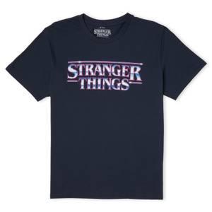 Stranger Things Chrome Logo Men's T-Shirt - Navy