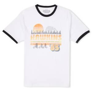 Stranger Things Hawkins '85 Unisex Ringer T-Shirt - White/Black