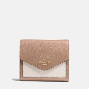 Coach Women's Small Colourblock Wallet - Taupe/Multi