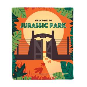 Jurassic Park Gates Bed Throw