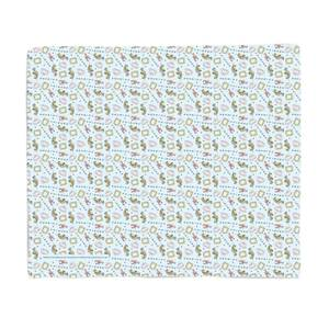 Friends Cool Tone Pattern Bed Throw