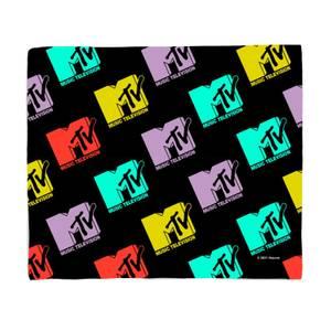 MTV Logo Pattern Bed Throw