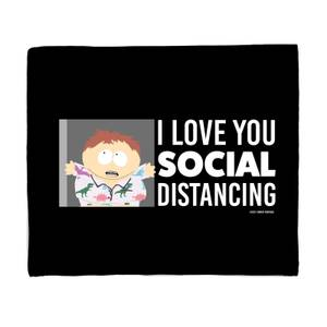 South Park I Love You Social Distancing Bed Throw