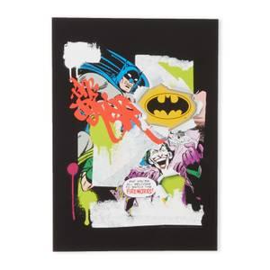 Batman Collage Impression d'art Giclée