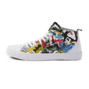Akedo x Batman Mash Up Chaussures Coupe Haute Adulte - Blanc