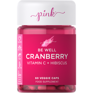 Pink Cranberry + Vitamin C + Hibiscus - 60 Veggie Capsules