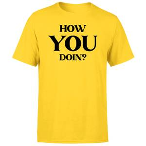 How You Doin? Men's T-Shirt - Yellow