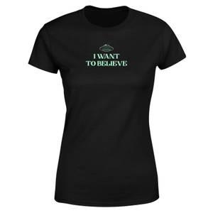 I Want To Believe Women's T-Shirt - Black