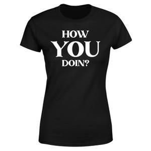 Freinds How You Doin? Women's T-Shirt - Black