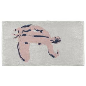 Seated Nude Back View Hand Towel