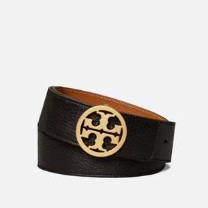 "Tory Burch Women's 1.5"" Logo Belt - Black"