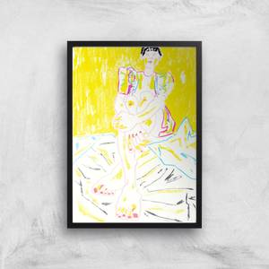 The Girl In The Yellow Dress Giclee Art Print