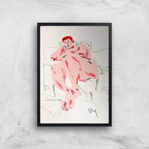 Model Resting In A Chair Giclee Art Print