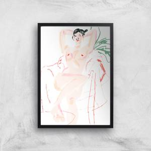 Girl Resting In A Chair Giclee Art Print