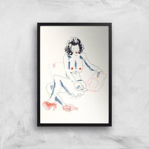 Girl With A Magazine Light Giclee Art Print