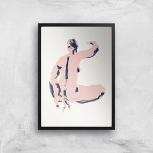 Seated Nude Back View Giclee Art Print