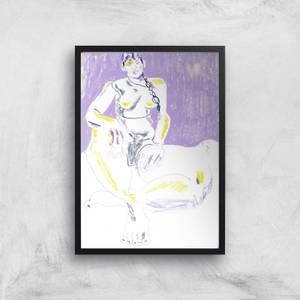 Purple Girl Giclee Art Print