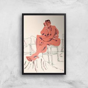 Nude Seated In A Chair Giclee Art Print