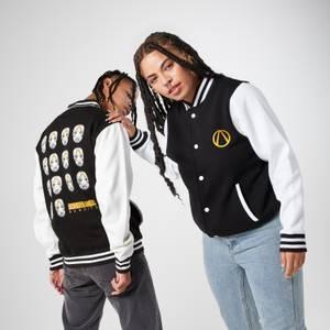Borderlands Strip The Flesh Geborduurd Unisex Varsity Jacket - Zwart/Wit