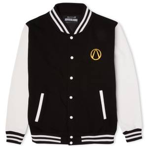Borderlands Strip The Flesh Embroidered Unisex Varsity Jacket - Black/White
