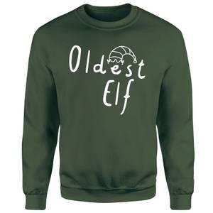 Oldest Christmas Elf Unisex Sweatshirt - Green