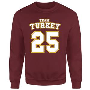 Christmas Sports Team Turkey Unisex Sweatshirt - Burgundy