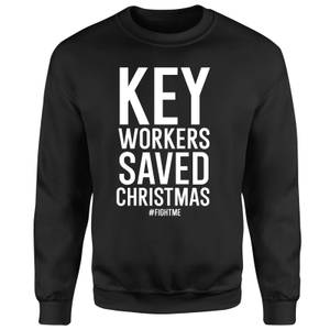 Key Workers Saved Christmas Unisex Sweatshirt - Black