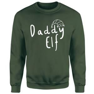 Daddy Christmas Elf Unisex Sweatshirt - Green