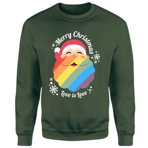 LGBTQ+ Christmas Love Unisex Sweatshirt - Green
