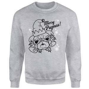 Merry Pugmas Unisex Sweatshirt - Grey