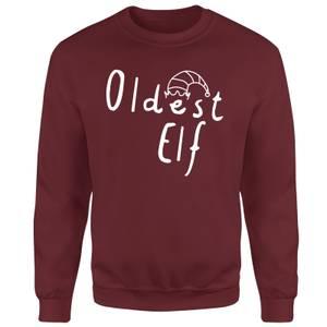Oldest Elf Unisex Sweatshirt - Burgundy