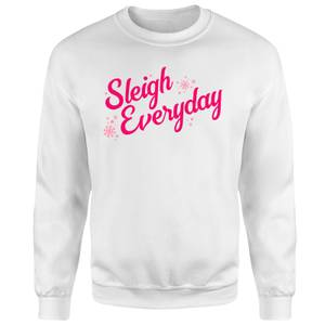 Snowy Sleigh Everyday Unisex Sweatshirt - White