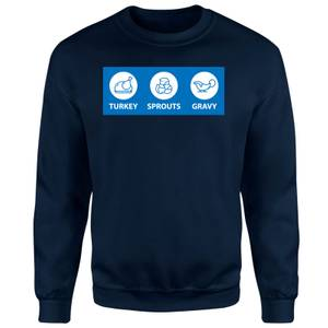 NHS Covid Christmas Turkey Sprouts Gravy Unisex Sweatshirt - Navy
