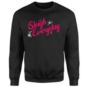 Sleigh Everyday Unisex Sweatshirt - Black