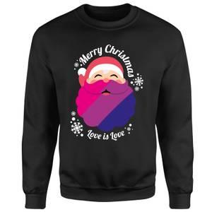 LGBTQ+ Bisexual Christmas Love Unisex Sweatshirt - Black